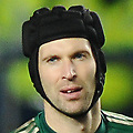 Football - 2012 / 2013 Premier League - Chelsea vs. Manchester United <br /> Petr Cech - Chelsea goalkeeper consoles Mikel at the final whistle after losing 3 -2 at Stamford Bridge.