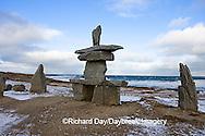 60595-010.08 Inukshuk near Hudson Bay Churchill MB Canada