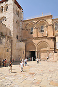 Israel, Jerusalem, Old City, Exterior of the church of the Holy Sepulchre, The main entrance.