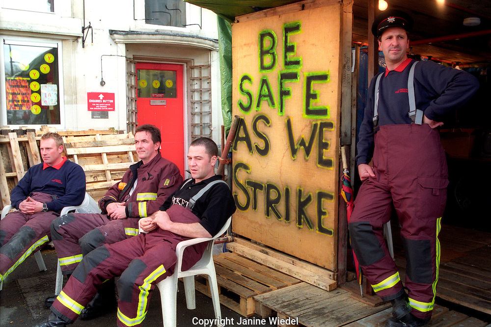 Fireman strike brings essential services down