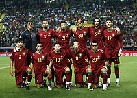 Fotball<br /> 12.09.2007<br /> EM-kvalifisering<br /> Portugal v Serbia<br /> Foto: Gepa/Digitalsport<br /> NORWAY ONLY<br /> <br /> hinten von links: Ricardo, Bosingwa, Nuno Gomes, Bruno Alves, Fernando Meira, Cristiano Ronaldo, vorne von links: Paulo Feirrera, Simao, Maniche, Petit und Deco (POR)<br /> Lagbilde Portugal