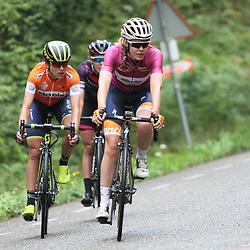 02-09-2017: Wielrennen: Boels Ladies Tour: Vaals: Anna van der Breggen; Annemiek van Vleuten; Hannah Barnes