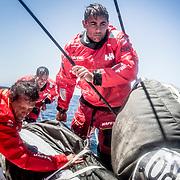 © María Muiña I MAPFRE: Willy Altadill entrenando a bordo del MAPFRE. Willy Altadill training on board MAPFRE.