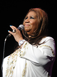 Aretha Franklin live at Radio City Music Hall and pay a tribute to Whitney Houston in New York on February 17, 2012. Photos by Morgan Dessalles/ABACAPRESS.COM