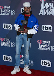 INGLEWOOD, LOS ANGELES, CA, USA - MARCH 11: 2018 iHeartRadio Music Awards held at The Forum on March 11, 2018 in Inglewood, Los Angeles, California, United States. 11 Mar 2018 Pictured: Chance The Rapper, Chancelor Jonathan Bennett. Photo credit: David Acosta/Image Press Agency / MEGA TheMegaAgency.com +1 888 505 6342