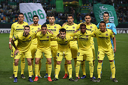 February 14, 2019 - Lisbon, Portugal - Villarreal's starter team before the UEFA Europa League Round of 32 First Leg football match Sporting CP vs Villarreal CF at Alvalade stadium in Lisbon, Portugal on February 14, 2019. (Credit Image: © Pedro Fiuza/NurPhoto via ZUMA Press)