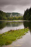 Big Beef Creek estuary on the Kitsap Peninsula at Hood Canal in Puget Sound, Washington state, USA.