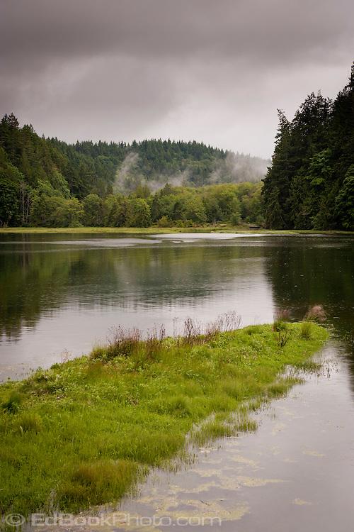 Big Beef Creek estuary on the Kitsap Peninsula at Hood Canal in Puget Sound, Washington state, USA.