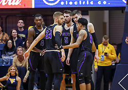 Mar 20, 2019; Morgantown, WV, USA; Grand Canyon Antelopes players huddle during the first half against the West Virginia Mountaineers at WVU Coliseum. Mandatory Credit: Ben Queen