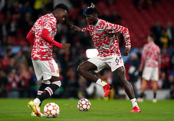 Manchester United's Paul Pogba warms up before the UEFA Champions League, Group F match at Old Trafford, Manchester. Picture date: Wednesday September 29, 2021.