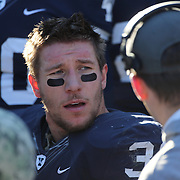 Yale running back Tyler Varga during the Yale Vs Princeton, Ivy League College Football match at Yale Bowl, New Haven, Connecticut, USA. 15th November 2014. Photo Tim Clayton