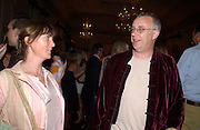 Louise Guinness and Nick Ashley, Planet Potato, Bush Hall, 310 Uxbridge Rd. 17 June 2004. ONE TIME USE ONLY - DO NOT ARCHIVE  © Copyright Photograph by Dafydd Jones 66 Stockwell Park Rd. London SW9 0DA Tel 020 7733 0108 www.dafjones.com