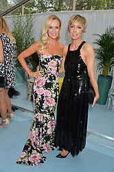 Left to right, AMANDA HOLDEN and JO ELVIN at the Glamour Magazine Women of the Year Awards in association with Next held in the Berkeley Square Gardens, London on 7th June 2016.