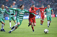 v.l. Thomas Delaney, Franck Ribery (Bayern)<br /> <br /> 28.01.2017, Fussball Bundesliga, Werder Bremen -Bayern München<br /> Norway only