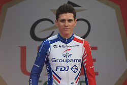 March 2, 2019 - Dubai, United Arab Emirates - France's David Gaudu of Groupama - FDJ Team takes the 3rd place in the General Classification of the UAE Tour 2019. .On Saturday, March 2, 2019, in Dubai City Walk, Dubai Emirate, United Arab Emirates. (Credit Image: © Artur Widak/NurPhoto via ZUMA Press)