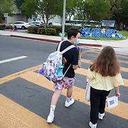 After over a year of virtual learning during the pandemic, and exactly one year to the day after Erin was furloughed from her job, Brooklyn returned for her first day of in-person school. Spencer, a freshman in high school, remains in virtual learning so he decided to get up early and walk his sister to her first day of in-person classes in over a year.