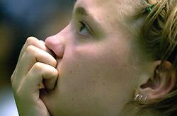 21-06-2000 JAP: OKT Volleybal 2000, Tokyo<br /> Nederland - Croatie 2-3 / Kitty Sanders