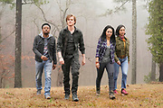"""""""No-Go + High-Voltage + Rescue"""" -- When two American tourists go missing while doing a """"No-Go Scavenger Hunt"""" through some of the world\'s most dangerous countries, the Phoenix team goes undercover as backpackers to find them and bring them home alive, on MACGYVER, Friday, April 26 (8:00-9:00 PM, ET/PT) on the CBS Television Network. Pictured: Justin Hires,  Lucas Till, Tristin Mays, Levy Tran. Photo: Jace Downs/CBS ©2019 CBS Broadcasting, Inc. All Rights Reserved"""