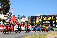 Team Bahrain - Merida during the Tour de France 2018, Stage 3, Team Time Trial, Cholet-Cholet (35 km) on July 9th, 2018 - Photo Kei Tsuji/ BettiniPhoto / ProSportsImages / DPPI