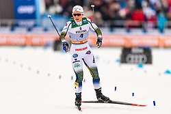 February 9, 2019 - Lahtis, FINLAND - 190209  Johanna HagstrÅ¡m of Sweden competes in the women's sprint quarter finale during the FIS Cross-Country World Cup on February 9, 2019 in Lahti..Photo: Johanna Lundberg / BILDBYRN / 135946 (Credit Image: © Johanna Lundberg/Bildbyran via ZUMA Press)