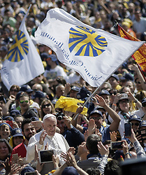 April 30, 2017 - Vatican City - POPE FRANCIS joined members of the Italian lay Catholic group 'Azione Cattolica Italiana' as they celebrated 150 years since their foundation during a special audience in St. Peter's Square. (Credit Image: © Giuseppe Ciccia/Pacific Press via ZUMA Wire)