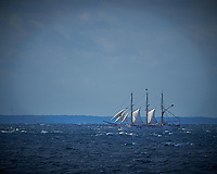 Three Mast Schooner Off the Coast of Poland From the Deck of the MV Explorer. Image taken with a Nikon Df Camera and 300 mm f/2.8 VR lens (ISO 100, 300 mm, f/4, 1/3200 sec). Raw image processed with Capture One Pro, Focus Magic, and Photoshop CC.