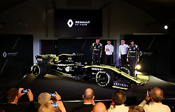Drivers Nico Hulkenberg (left) and Daniel Ricciardo during the Renault F1 Team 2019 season launch at Whiteways Technical Centre, Oxford.