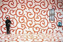 The Mayor of Paris Anne Hidalgo welcomed Tokyo Governor Yuriko Koike to the city hall. As part of the Paris-Tokyo Tandem, a cultural exchange program organized by Paris and Tokyo, an exhibition is dedicated to Furoshiki, the Japanese packaging art. Paris, France, on November 02, 2018. La Maire de Paris Anne Hidalgo a accueilli la gouverneure de Tokyo Yuriko Koike à la mairie. Dans le cadre du Tandem Paris-Tokyo, programme d'échanges culturels organisé par Paris et Tokyo, une exposition est consacrée au Furoshiki, l'art de l'emballage japonais. Paris (France) le 2 novembre 2018. Photo by Pierre Gautheron/ABACAPRESS.COM