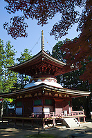 On the eastern and on the western side of the Garan at Koyasan are a few other Stupas, other than the Great Stupa. Toto, the Eastern Stupa was destroyed during the big fire in 1843 and reconstructed in 1984.