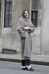 Leva (surname unknown) arrives at the Ryan Lo Autumn / Winter 2017 London Fashion Week show at 180 Strand, London on Saturday February 18, 2017