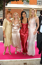 Left to right, Actress PATSY PALMER, ANOUSKA DE GEORGIOU, YASMIN MILLS and Actress SIOBHAN HEWLETT at a charity event 'In The Pink' a night of music and fashion in aid of the Breast Cancer Haven in association with fashion designer Catherine Walker held at the Cadogan Hall, Sloane Terrace, London on 20th June 2005.<br />