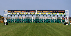A general view of the starting stalls at Yarmouth Racecourse.