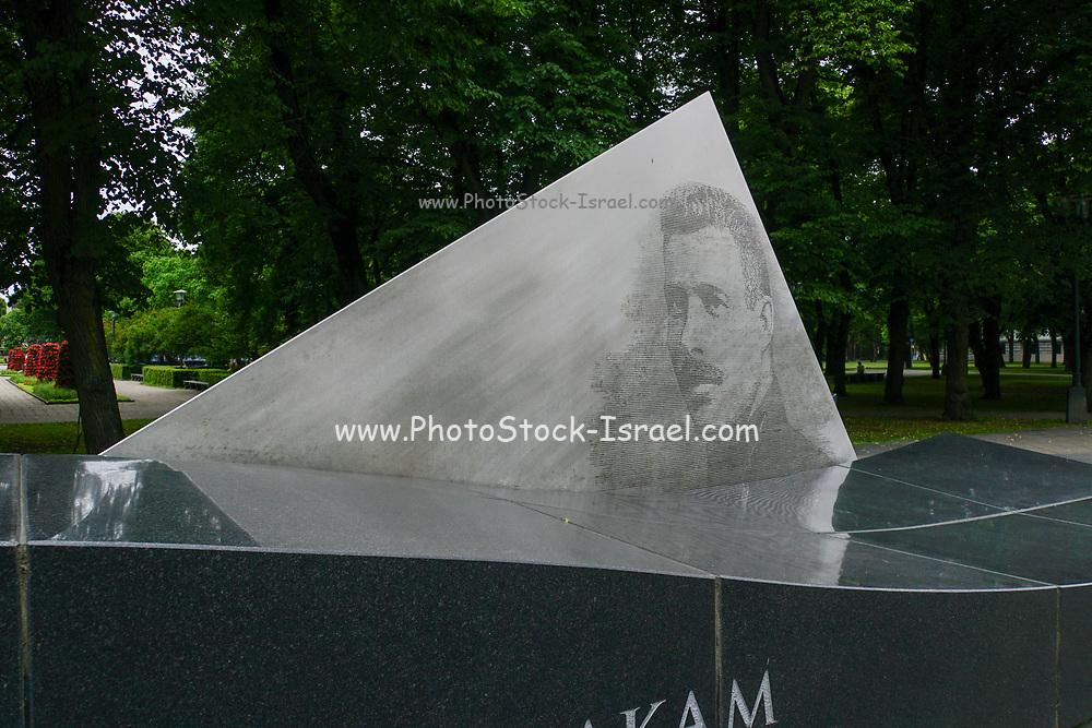 "The monument for Oskars Kalpaks (6 January 1882–6 March 1919) the commander of 1st Latvian Independent Battalion, also known as ""Kalpaks Battalion"". Riga, Latvia,"
