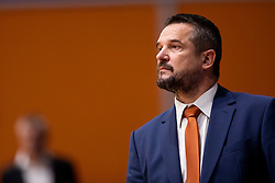 Jovan Beader, head coach of KK Helios Suns during basketball match between KK Helios Suns and KK Rogaska in ABA League Second division, on October 31, 2018 in Sports hall Domzale, Domzale, Slovenia. Photo by Urban Urbanc / Sportida