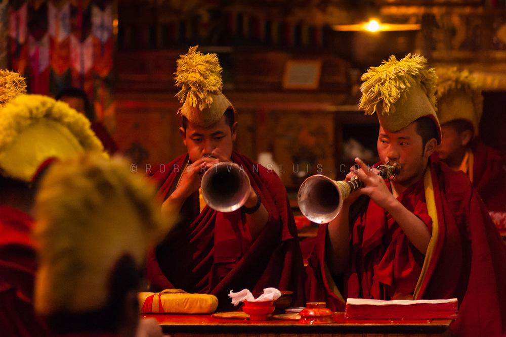 Buddhist ceremony at Samye Monastery, Tibet, China. Photo © robertvansluis.com