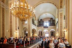 Prvo sveto obhajilo, on June 20, 2020 in Župnijska cerkev spreobrnitve sv. Pavla, Vrhnika, Slovenia. Photo by Vid Ponikvar / Sportida
