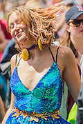 Excited fans watch as St Paul and the Broken Bones play the Other Stage - The 2016 Glastonbury Festival, Worthy Farm, Glastonbury.