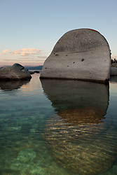 """""""Boulders at Lake Tahoe 11"""" - These boulders were photographed in the early morning near Speedboat Beach, Lake Tahoe."""