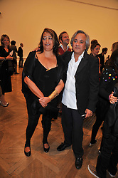 ZAHA HADID and ANISH KAPOOR attend the private view of Anish Kapoor's latest exhibition at the Royal Academy of Arts, Piccadilly, London on 22nd September 2009