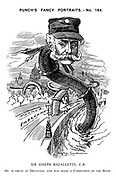 Punch's Fancy Portraits. - No. 164. Sir Joseph Bazalgette, C.B. He is great at drainage, and was made a Companion of the Bath..