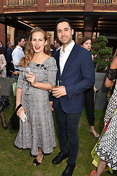 Charlotte Dellal and Maxim Crewe at the Victoria & Albert Museum's Summer Party in partnership with Harrods at The V&A Museum, Exhibition Road, London, England. 20 June 2018.