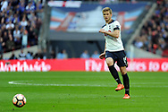Tottenham's Eric Dier in action. The Emirates FA Cup semi-final match, Chelsea v Tottenham Hotspur at Wembley Stadium in London on Saturday 22nd April 2017.<br /> pic by Carl Robertson,  Andrew Orchard sports photography.