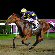 Extra Noble and Richard Kingscote winning the 8.10 race