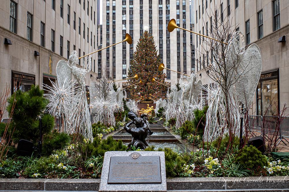 Angels serenading the Christmas Tree at Rockefeller Center