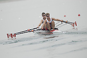 Beijing, CHINA. CAN JM2X, bowDavid WAKULICH and Alexander SOUTTER, move away from the start during their semi final, at  the  2007. FISA Junior World Rowing Championships,  Shunyi Water Sports Complex. 10/08/2007 [Photo, Peter Spurrier/Intersport-images]..... , Rowing Course, Shun Yi Water Complex, Beijing, CHINA,