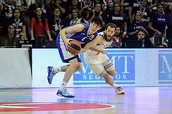 15.04.2015, Palacio de los Deportes stadium, Madrid, ESP, Euroleague Basketball, Real Madrid vs Anadolu Efes Istanbul, Playoffs, im Bild Real Madrid´s Sergio Rodriguez and Anadolu Efes´s Cedi Osman // during the Turkish Airlines Euroleague Basketball 1st final match between Real Madrid vand Anadolu Efes Istanbul t the Palacio de los Deportes stadium in Madrid, Spain on 2015/04/15. EXPA Pictures © 2015, PhotoCredit: EXPA/ Alterphotos/ Luis Fernandez<br /> <br /> *****ATTENTION - OUT of ESP, SUI*****