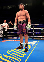 Scott Fitzgerald wins the Welterweight Contest at the Echo Arena, Liverpool. PRESS ASSOCIATION Photo. Picture date: Saturday April 21, 2018. See PA story BOXING Liverpool. Photo credit should read: Peter Byrne/PA Wire.