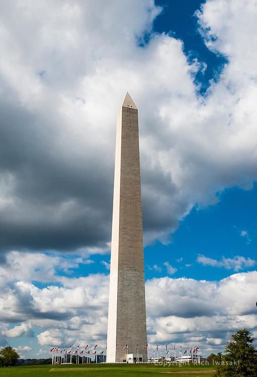 View of Washington Monument on The Mall, Washington, DC