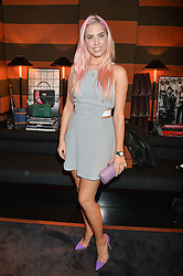 AMBER LE BON at a private dinner for designer Ethan K held at Blakes Hotel, 33 Roland Gardens, London on 26th October 2016.