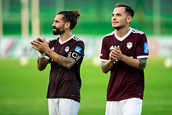 Luka Majcen of Triglav and Tom Žurga of Triglav after the football match between NK Triglav and NS Mura in 5th Round of Prva liga Telekom Slovenije 2019/20, on August 10, 2019 in Sports park, Kranj, Slovenia. Photo by Vid Ponikvar / Sportida